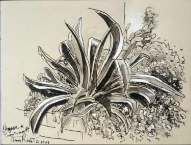 Dessin Arbre, encre, figuratif, œuvre d'art par Guy Thomas-Rodet