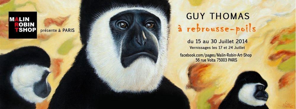À REBROUSSE-POIL II, Galerie Malin-Robin, Paris 2014.07